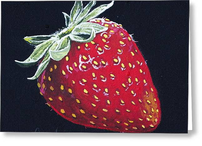 Fruit Tree Art Greeting Cards - Strawberry Greeting Card by Aaron Spong