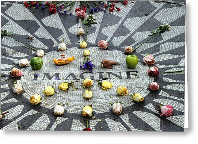 John Lennon Photographs Greeting Cards - Strawberry Fields Greeting Card by Alex Pachman