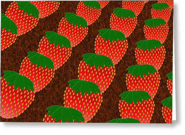 STRAWBERRY FIELDS FOREVER Greeting Card by Andee Design