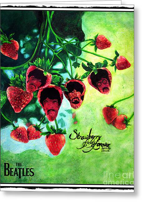 Mccartney Drawings Greeting Cards - Strawberry Fields Version 1 Greeting Card by Scott Parker