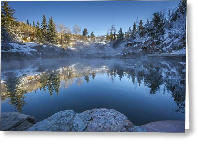 Colorado Greeting Cards - Strawberry Hot Springs Greeting Card by Chelsea Stockton