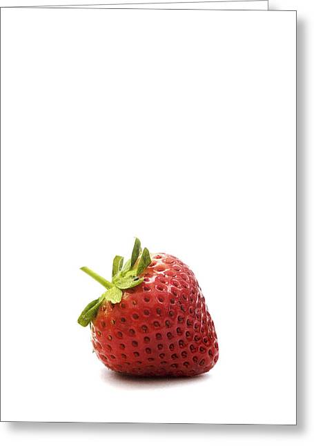 Kitchen Photos Digital Greeting Cards - Strawberry Greeting Card by Natalie Kinnear