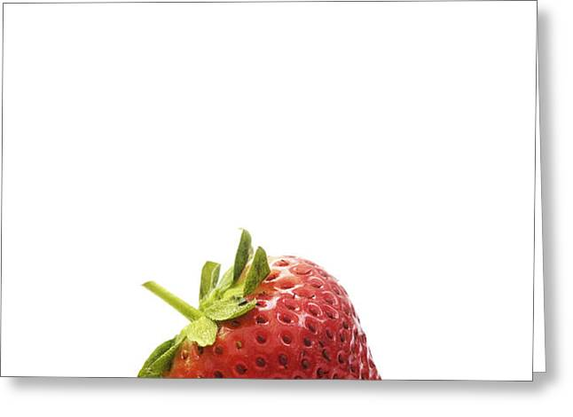 Strawberry Greeting Card by Natalie Kinnear