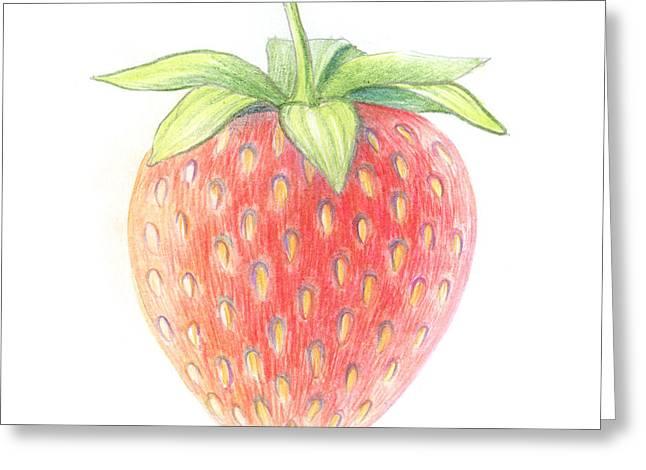 Strawberry Greeting Card by Olga Zelenkova