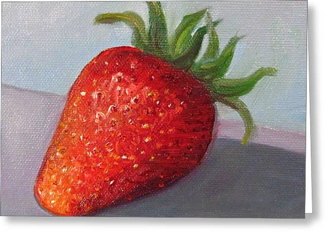 Robie Benve Greeting Cards - Strawberry Greeting Card by Robie Benve