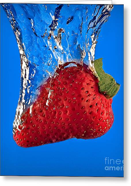 Slam Greeting Cards - Strawberry Slam Dunk Greeting Card by Susan Candelario
