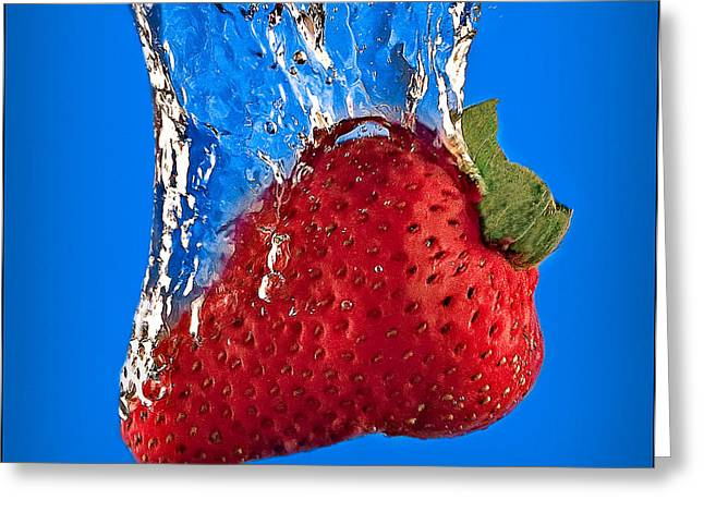 Strawberry Slam Dunk Greeting Card by Susan Candelario