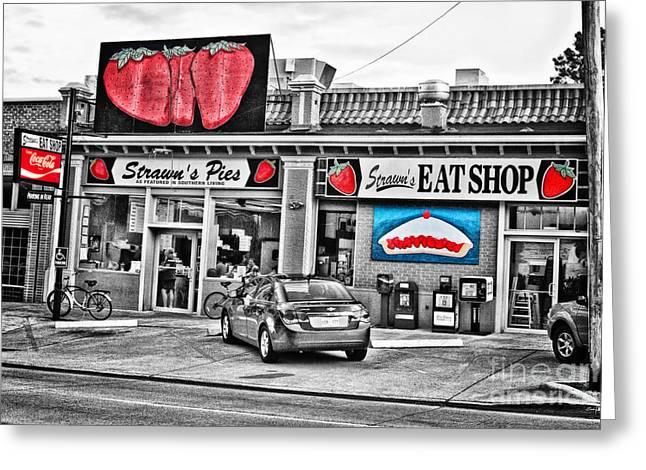 North Louisiana Greeting Cards - Strawns Eat Shop Greeting Card by Scott Pellegrin