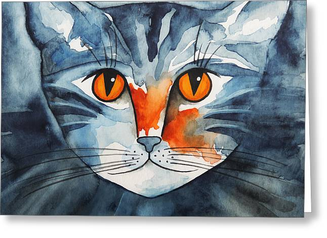 Stray Greeting Cards - Stray Cat Greeting Card by Jutta Maria Pusl