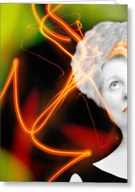 Self-portrait Photographs Greeting Cards - Streak Greeting Card by Diana Angstadt