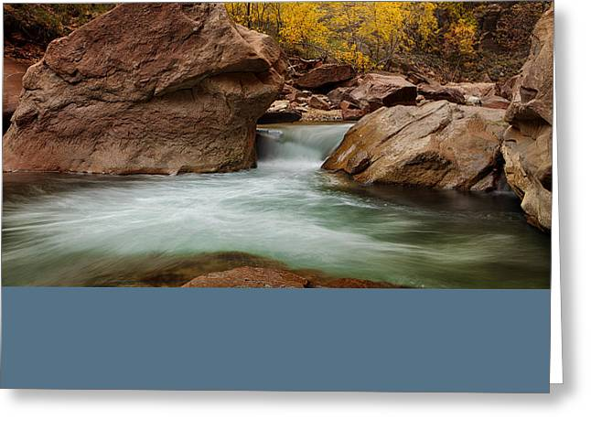 Stream At Autumn Greeting Card by Andrew Soundarajan
