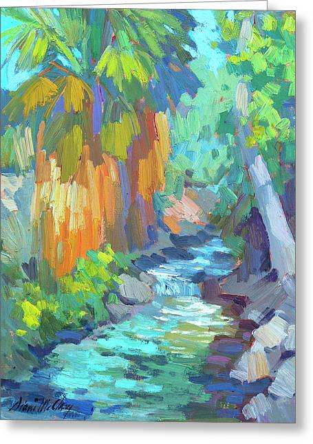 Stream Greeting Cards - Stream At Indian Canyon Greeting Card by Diane McClary