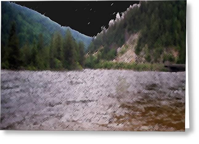 Stream Bridge Greeting Card by Dennis Buckman