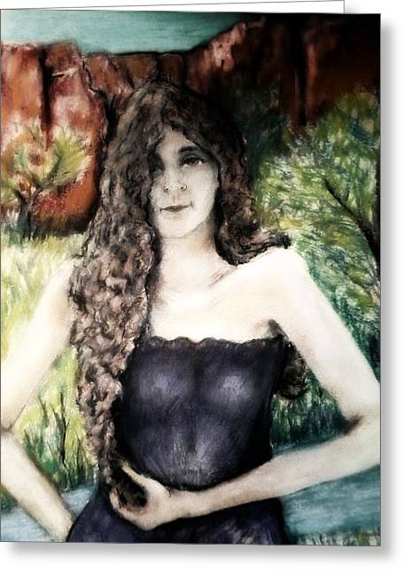 Curly Hair Pastels Greeting Cards - Stream Catcher Greeting Card by Joseph Wetzel