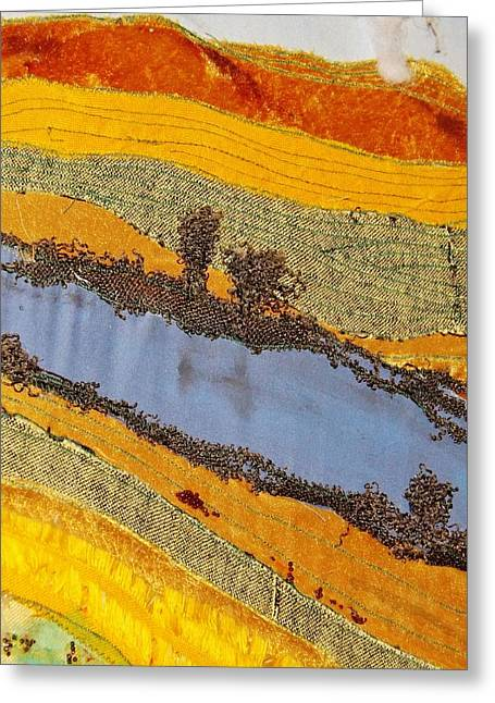 Stream Tapestries - Textiles Greeting Cards - Stream Greeting Card by Katharina May