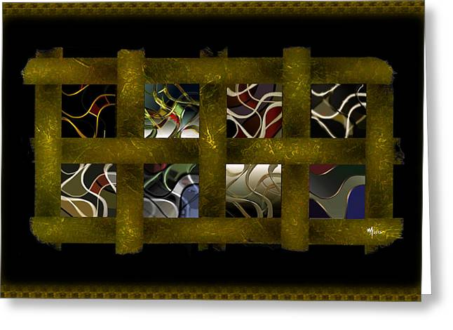 Abstract Geometric Greeting Cards - Streamers Greeting Card by Warren Furman