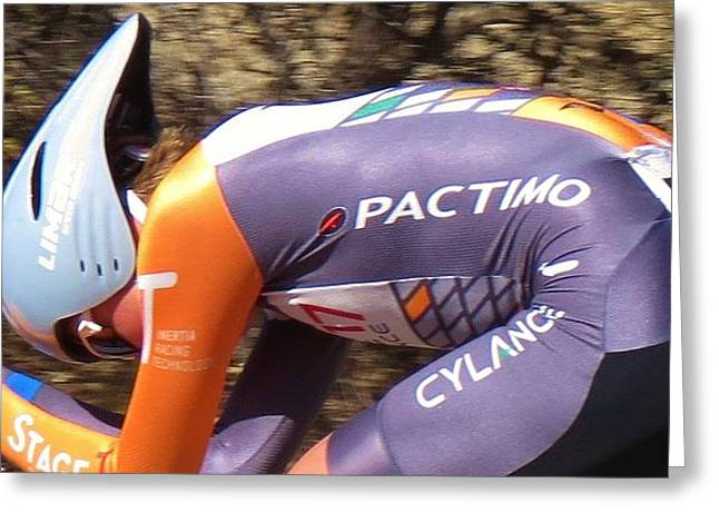 International Bicycle Races Greeting Cards - Streamlined for Speed Greeting Card by Feva  Fotos