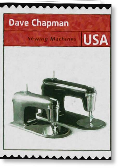 Manual Paintings Greeting Cards - Streamlined sewing machines Greeting Card by Lanjee Chee