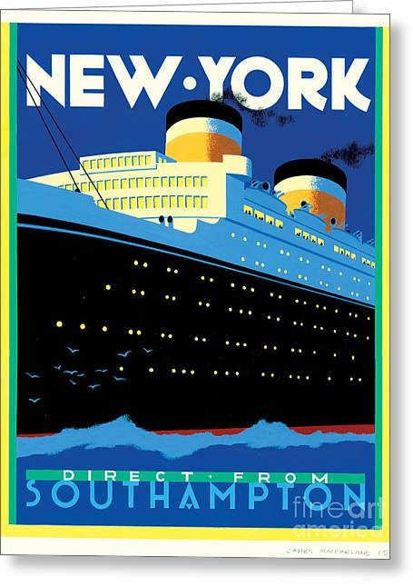 Southampton Greeting Cards - Streamliner NY Greeting Card by Brian James