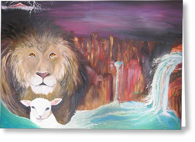 Jesus The Lion Of Judah Greeting Cards - Streams in the Desert Greeting Card by Rachael Pragnell