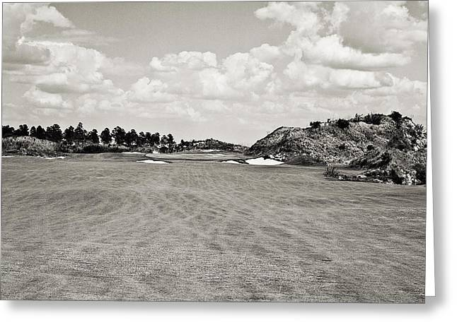 Second Hole Greeting Cards - Streamsong Red No.2 Greeting Card by Scott Pellegrin