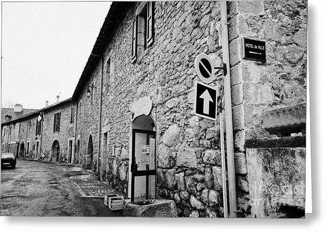 Old Street Greeting Cards - Street And Fortified Buildings Inside The City Walls Of Mont-louis Pyrenees-orientales France Greeting Card by Joe Fox