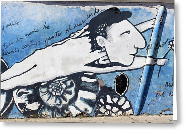 Street Art Santiago Chile Greeting Card by Kurt Van Wagner