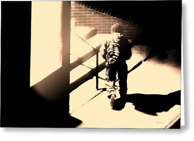 Art Decor Greeting Cards - Street Artist Greeting Card by Bob Orsillo