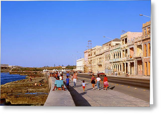 Third-oldest Greeting Cards - Street, Buildings, Old Havana, Cuba Greeting Card by Panoramic Images
