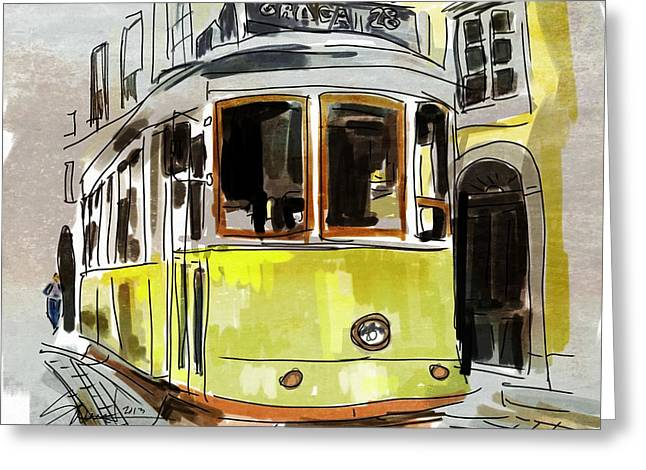 People Greeting Cards - Street Car Greeting Card by Robert Smith