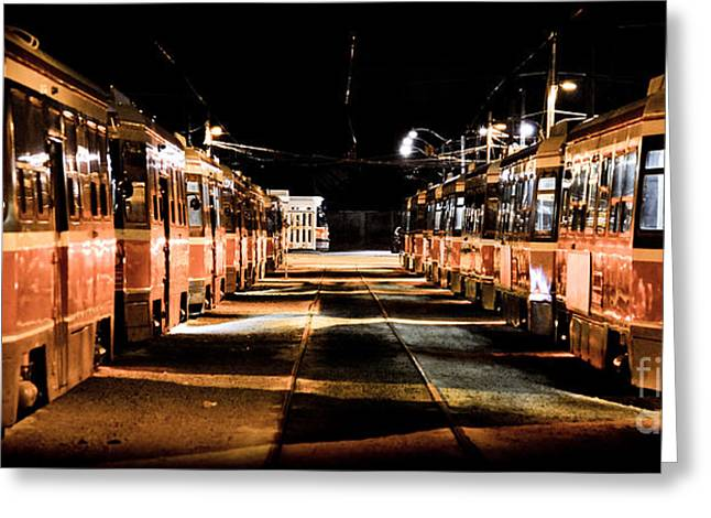 Marko Greeting Cards - Street Cars Greeting Card by Marko Moudrak