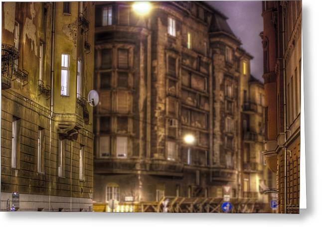 Long Street Greeting Cards - Street corner Budapest Greeting Card by Nathan Wright