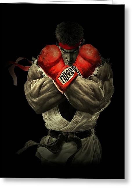 Gloves Drawings Greeting Cards - Street Fighter Greeting Card by Movie Poster Prints