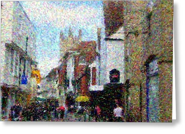 Street In Canterbury Greeting Card by Grace Renshaw