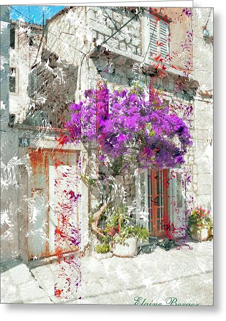 Street Tapestries - Textiles Greeting Cards - Street in Dubrovnik Greeting Card by Elaine Berger