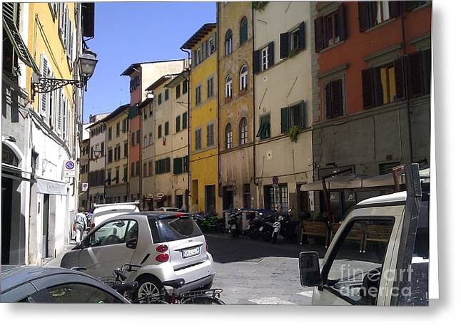 Ted Williams Greeting Cards - Street In Florence Greeting Card by Ted Williams