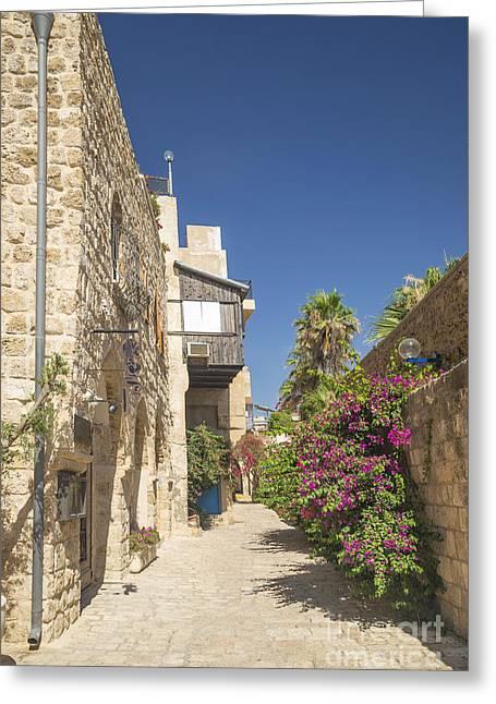 Yafo Greeting Cards - Street In Jaffa Tel Aviv Israel Greeting Card by Jacek Malipan