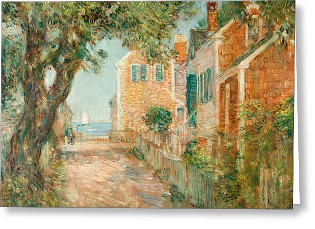 Street in Provincetown Greeting Card by  Childe Hassam