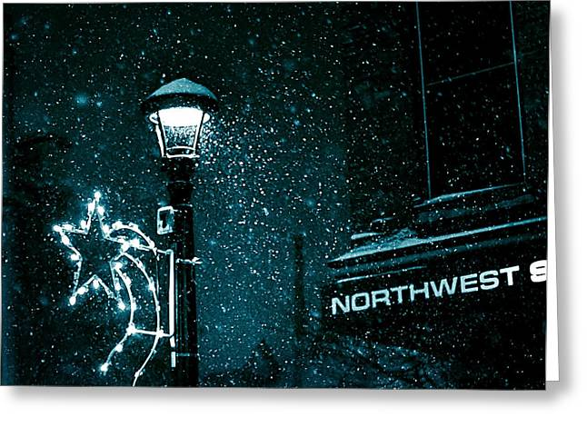 Night Lamp Greeting Cards - Street Lamp Greeting Card by Brian Fisher