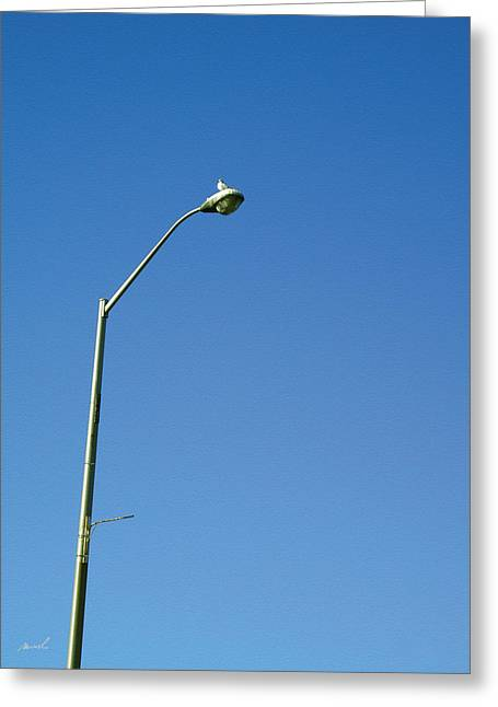 Street Lamp Greeting Card by The Art of Marsha Charlebois