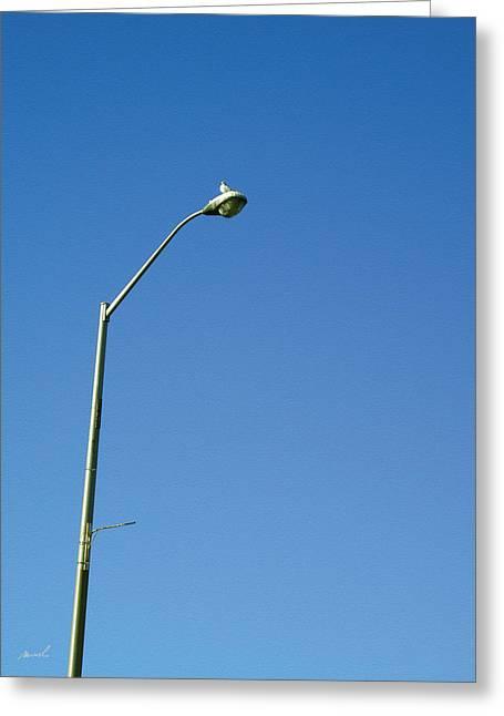 Streetlight Digital Art Greeting Cards - Street Lamp Greeting Card by Jeanette Charlebois