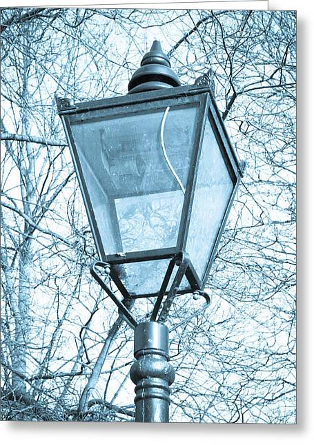 Street Lantern Greeting Cards - Street lamp Greeting Card by Tom Gowanlock