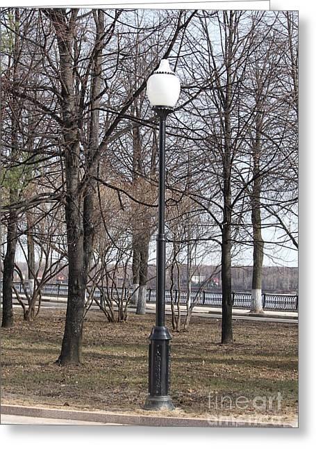 Streetlight Greeting Cards - Street lantern Greeting Card by Evgeny Pisarev