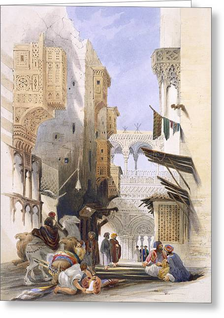 Alleys Greeting Cards - Street Leading To El Azhar, Grand Greeting Card by A. Margaretta Burr
