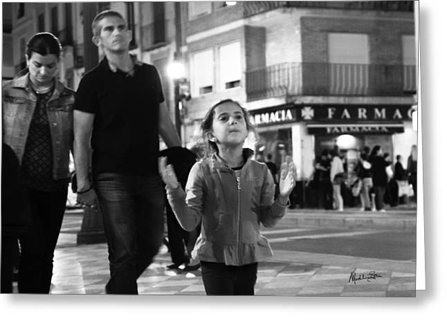 Family Time Greeting Cards - Street Life in Granada - Spain Greeting Card by Madeline Ellis