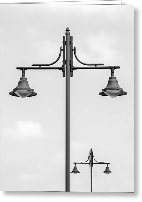 Street Lights Greeting Cards - Street Lights Greeting Card by Wim Lanclus