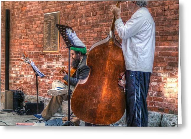 Street Musicians - Great Barrington - No. 2 Greeting Card by Geoffrey Coelho