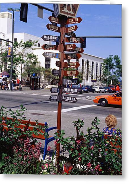 Street Name Signs At The Roadside Greeting Card by Panoramic Images