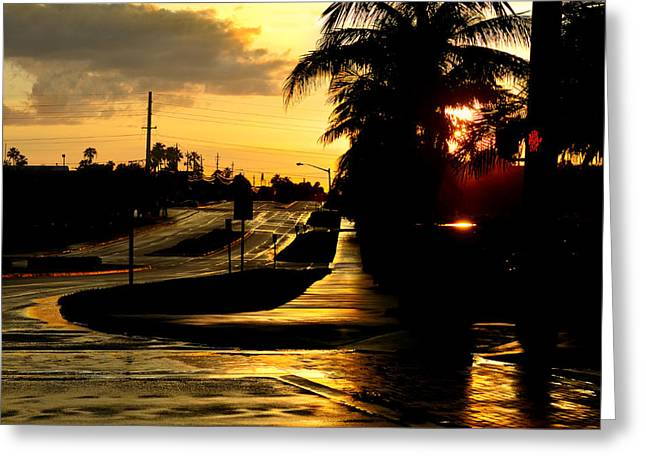 Storm Lovers Art Greeting Cards - Street Of Dreams Greeting Card by Laura  Fasulo