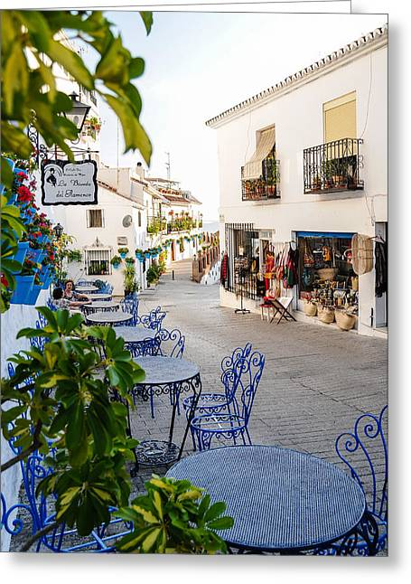 Southern Province Greeting Cards - Street Of Mijas Greeting Card by Tetyana Kokhanets